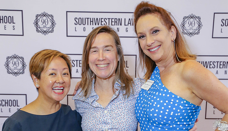 Image - Lilly Liu from HFPA with Orly Ravid and Hillary Kane