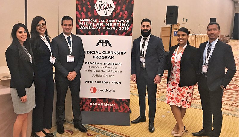 Image - Southwestern students at the 2019 ABA Judicial Clerkship Program