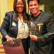 Image - Mychal Wilson '03 as the Trailblazer of the Year at the Alumni Resource Network and Diversity Reception