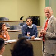 Image - Professor Shafiroff with ELAC Students at the LSAC Discover Law Event