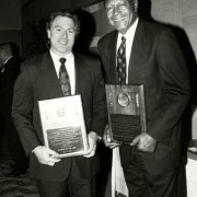 David Casselman, 1993 Alumnus of the Year, with Mayor Tom Bradley, first recipient of the Southwestern Alumni Association's Lifetime Achievement Award