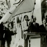 Mayor Bradley marks the opening of the 1984 Olympics in Los Angeles