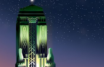 Image - Bullocks Wilshire at night illustration