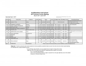 Image - Course and Final Exam Schedule