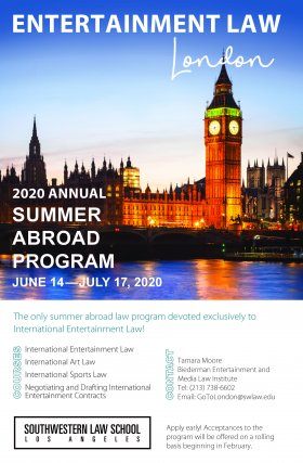 London Study Abroad 2020 Flyer