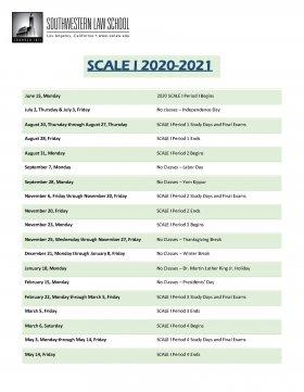 Csun Academic Calendar 2021-2022 Academic Calendars | Southwestern Law School