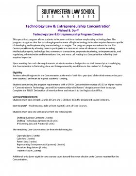 Image - Technology Law and Entrepreneurship Concentration Flyer