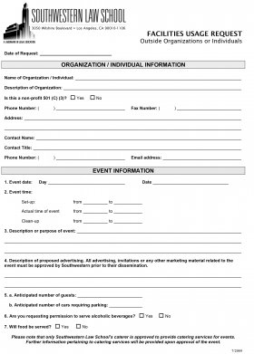 Publications Facilities Usage Request Form