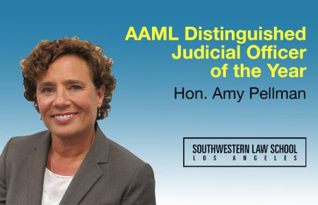 Image - Hon. Amy Pellman SoCal AAML Distinguished Judicial Officer of the Year Award