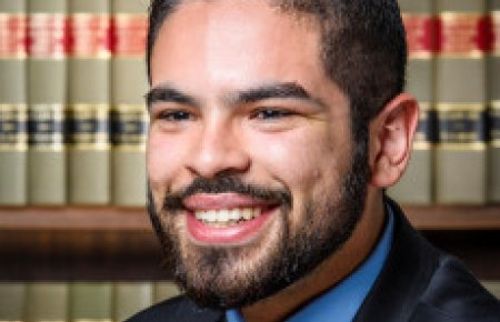 Andres Holguin-Flores '15 is a judicial clerk for the Hon. Terry Hatter, Jr.