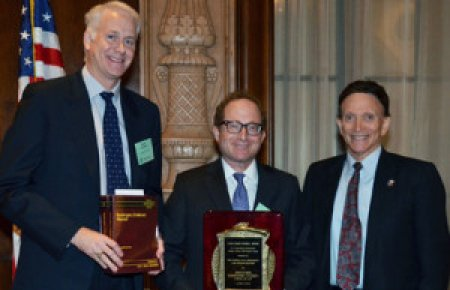 Byron Stier, Aron Hier and Judge Barry Russell Federal Practice Award