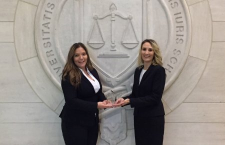 Ashley Miller and Nicole Pronk take Second Place at National Basketball Negotiation Competition