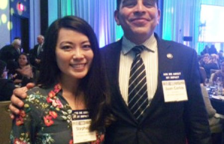 Stephanie Koguchi '16 and Juan Carlos Moran '14 are Equal Justice Works/AmeriCorp Elder Abuse Justice Fellows