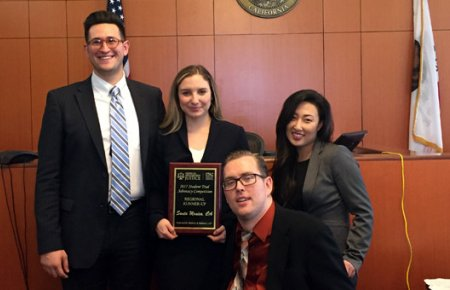 TAHP team at American Association for Justice Trial Advocacy Competition in March 2017