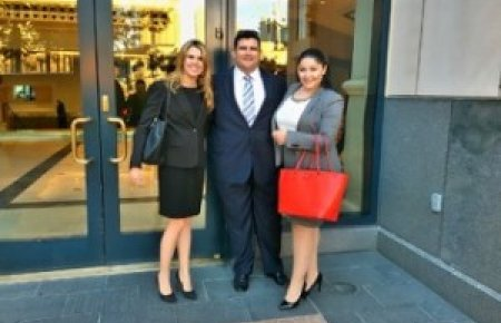 Mandy Brooksbank, Shawn Halbert and Roza Egiazarian were finalists at the regional round of the Texas Young Lawyers National Trial Competition
