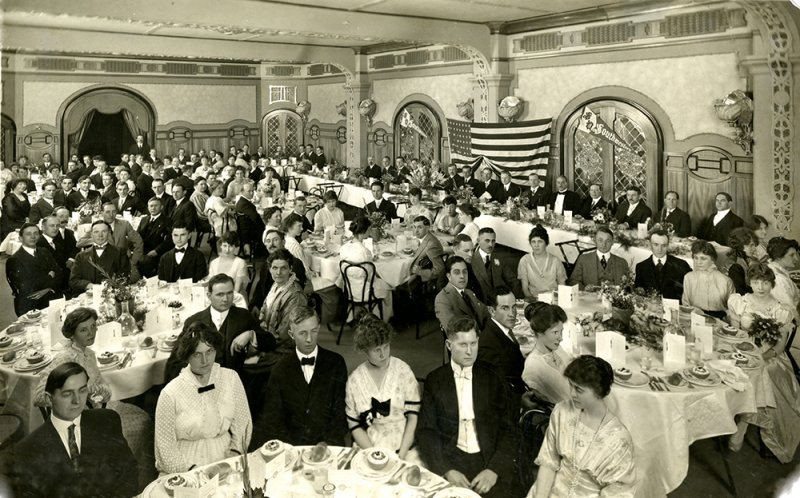 Southwestern's Second Annual Graduation Banquet in 1915